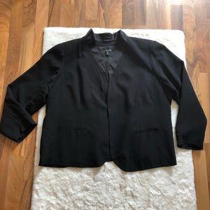 Eileen fisher 100% silk open front blazer size 3X